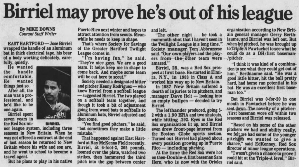 Hartford Courant excerpt, June 29, 1990.