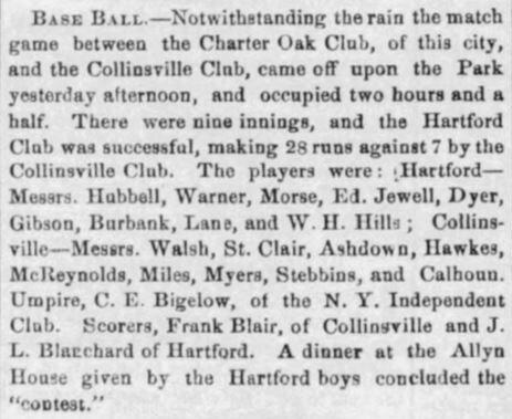 Charter Oaks vs. Collinsville,1864